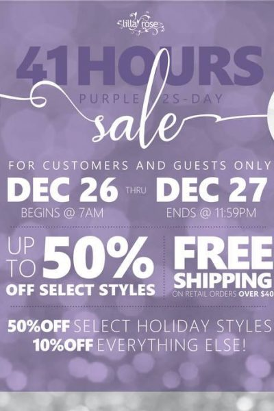 yay after Christmas sale Lilla Rose style