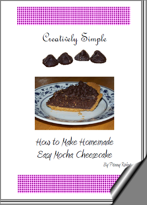 Creatively Simple - How to Make Easy Homemade Mocha Cheesecake