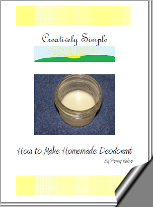 Creatively Simple ~ How to Make Homemade Deodorant